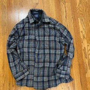 Pendleton xl wool plaid button up